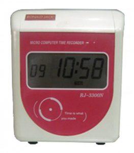 máy chấm công thẻ giấy ronald jack rj3300n
