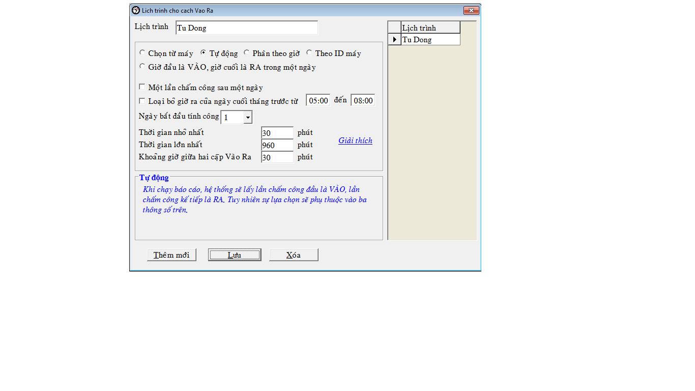 Hướng dẫn sử dụng phần mềm máy chấm công Mitaco